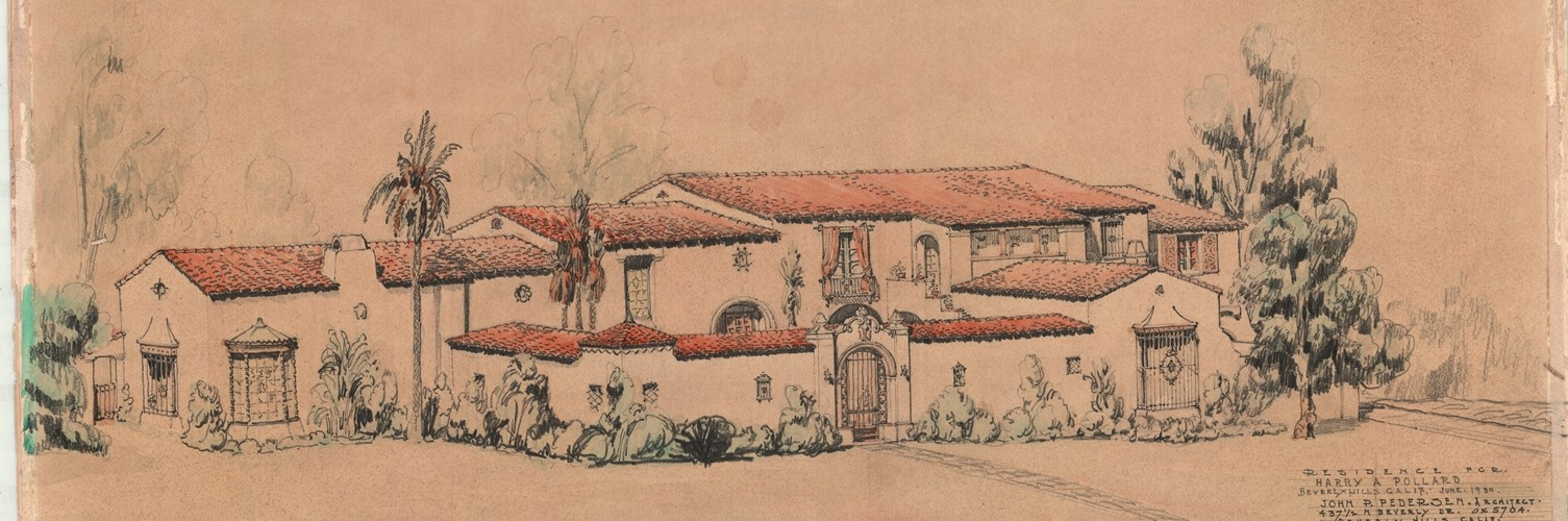 Pedersen Sketch, Beverly Hills, California