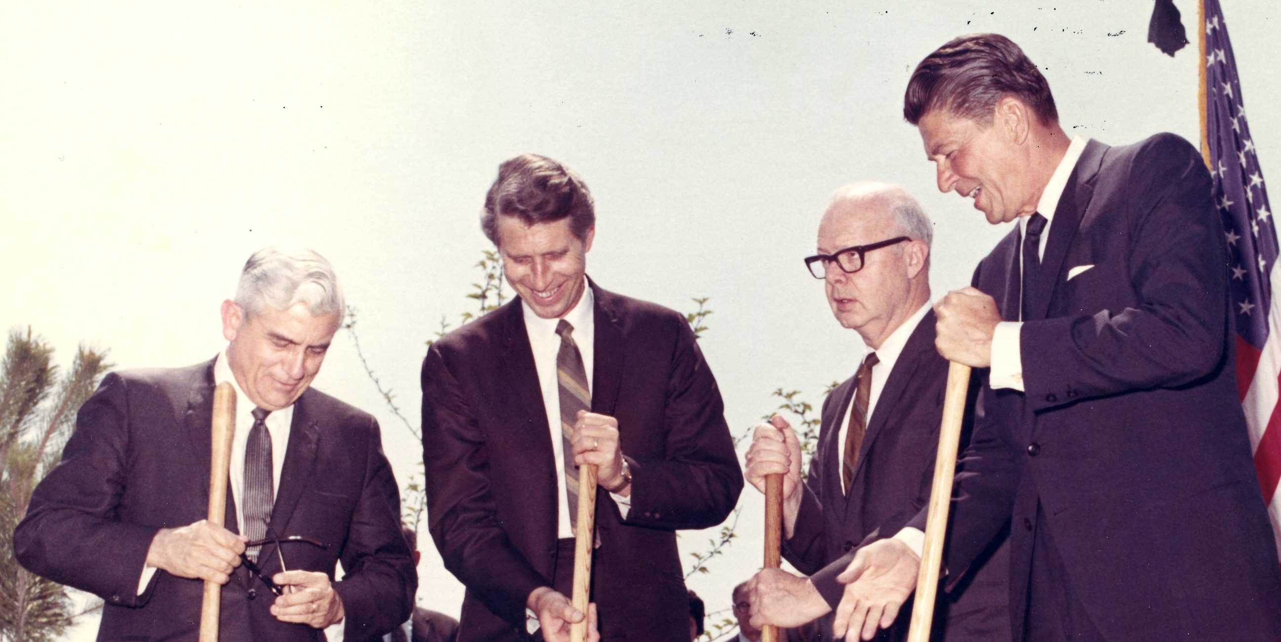 Groundbreaking ceremony of California State College Bakersfield