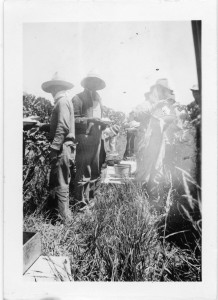 Photograph of Filipino farm workers taking a break from work