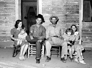 Migrant family, Placer County, California