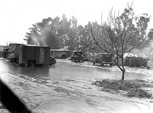 Camp during pee harvest 1, California