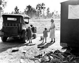 Cotton pickers, near Fresno, California