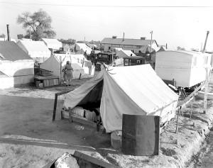 Tent home, Kern County, California
