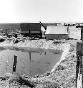Ditch bank camp, California