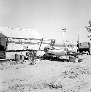 Home of drought refugee, California