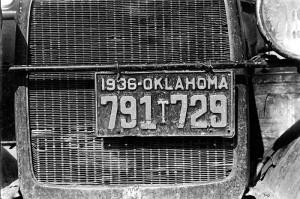 Cotton picker's car, Fresno, California