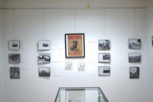 Exhibit display of poster